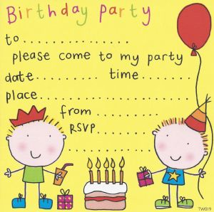 Twin Boys Children's Party Invitation